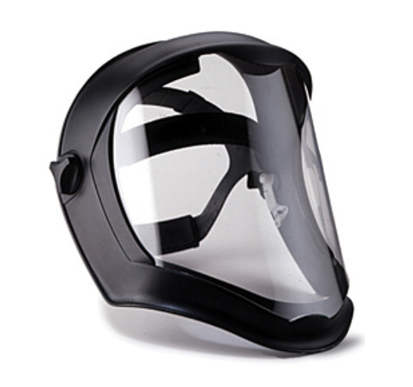 Uvex Bionic Shield with Matte Black Frame and Clear Anti-Fog Shield S8510