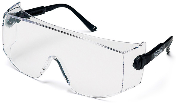 Pyramex Defiant Jumbo Overspecs Safety Glasses Black Frame Clear Lens SB1010SJ