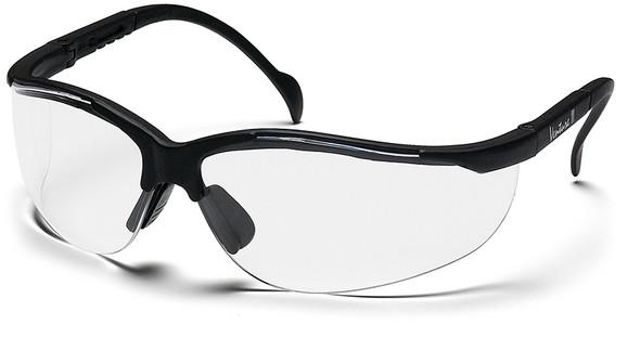 Pyramex Venture 2 Safety Glasses Black Frame Clear Anti-Fog Lens SB1810ST