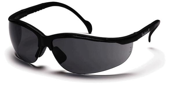 Pyramex Venture 2 Safety Glasses Black Frame Gray Anti-Fog Lens SB1820ST