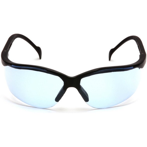 Pyramex Venture 2 Safety Glasses Black Frame Infinity Blue Lens SB1860S Front View