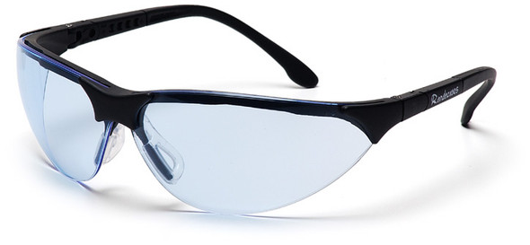 Pyramex Rendezvous Safety Glasses with Black Frame and Infinity Blue Anti-Fog Lens