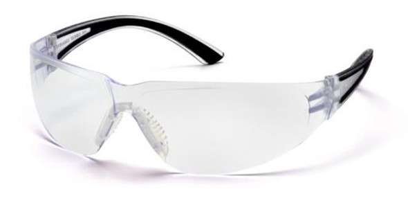Pyramex Cortez Safety Glasses with Black Temples and Clear Lens