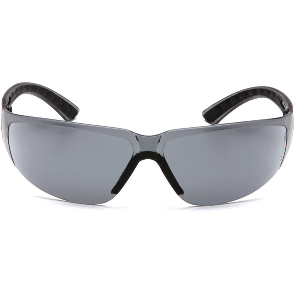 Pyramex Cortez Safety Glasses Black Temples Gray Lens SB3620 Front