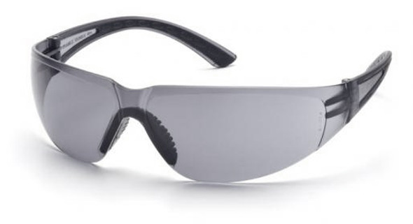 Pyramex Cortez Safety Glasses with Black Temples and Gray Lens