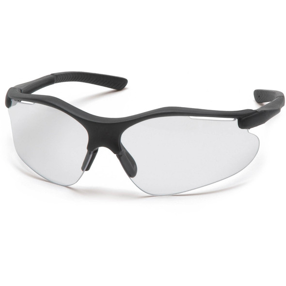 Pyramex Fortress Safety Glasses with Black Frame and Clear Lens SB3710D