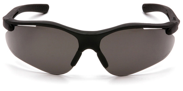 Pyramex Fortress Safety Glasses with Black Frame and Gray Lens SB3720D Front