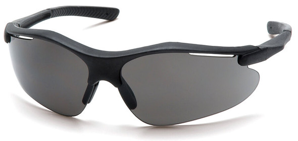 Pyramex Fortress Safety Glasses with Black Frame and Gray Lens SB3720D