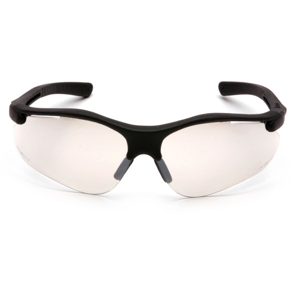 Pyramex Fortress Safety Glasses with Black Frame and Indoor/Outdoor Lens SB3780D Front View