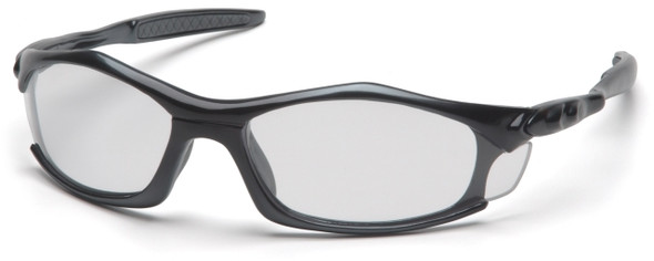 Pyramex Solara Safety Glasses with Black Frame and Clear Lens
