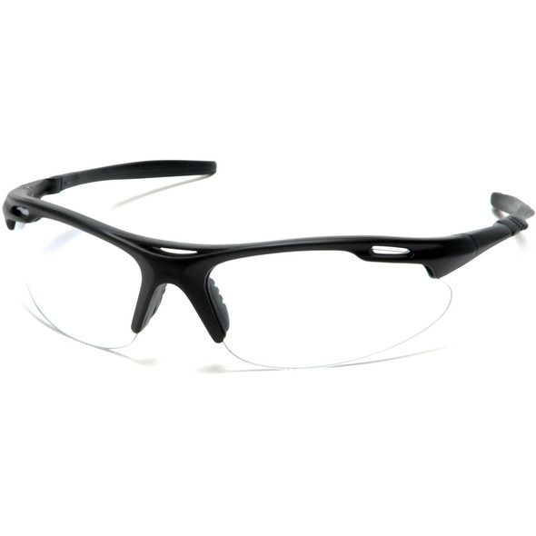 Pyramex Avante Safety Glasses with Black Frame and Clear Lens SB4510D