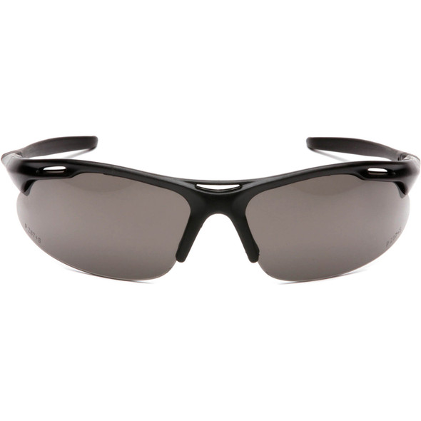 Pyramex Avante Safety Glasses with Black Frame and Gray Lens SB4520D Front View