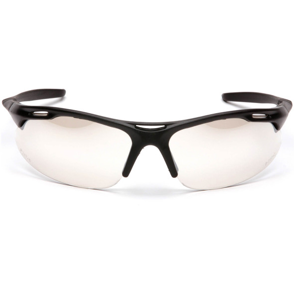 Pyramex Avante Safety Glasses with Black Frame and Indoor/Outdoor Lens SB4580D Front View