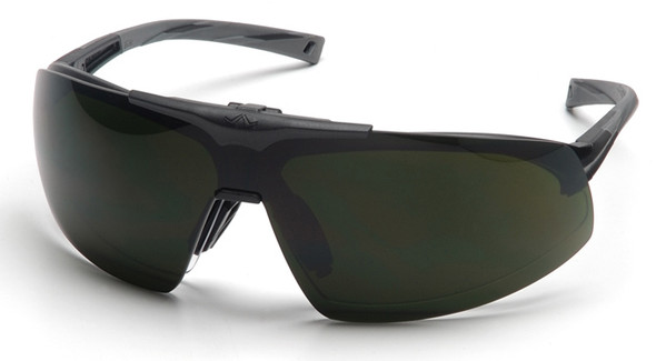Pyramex Onix Plus Safety Glasses with Clear Anti-Fog Lens and Shade 5 Flip Lens SB4950STP
