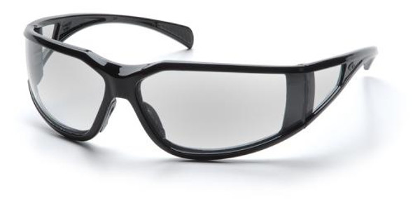 Pyramex Exeter Safety Glasses with Black Frame and Clear Anti-Fog Lens SB5110DT