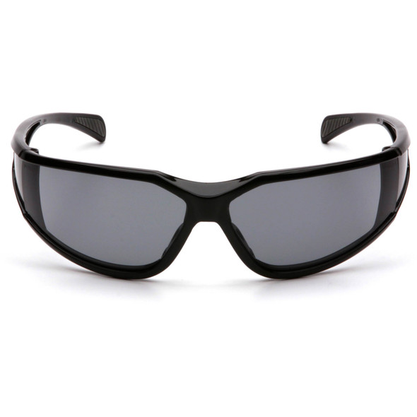 Pyramex Exeter Safety Glasses with Black Frame and Gray Anti-Fog Lens SB5120DT Front