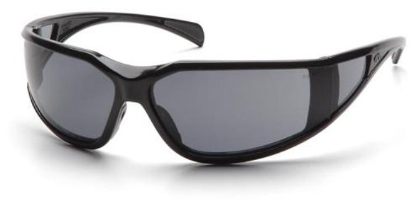 Pyramex Exeter Safety Glasses with Black Frame and Gray Anti-Fog Lens SB5120DT