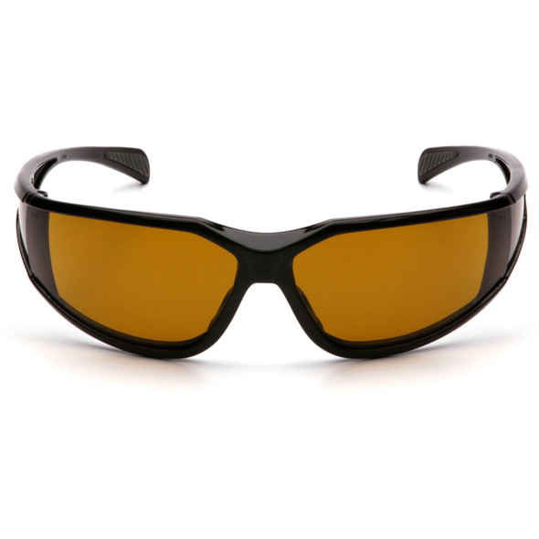 Pyramex Exeter Safety Glasses with Black Frame and Amber Anti-Fog Lens SB5133DT Front