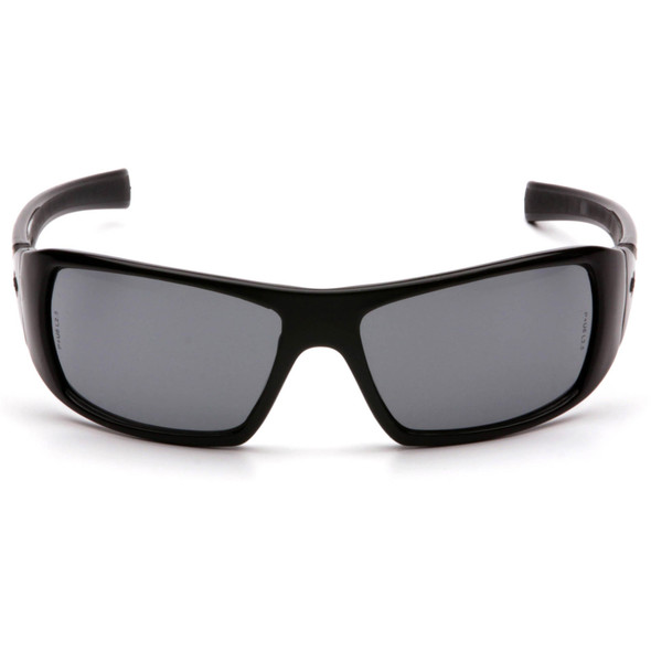 Pyramex Goliath Safety Glasses with Black Frame and Gray Lens SB5620D Front View