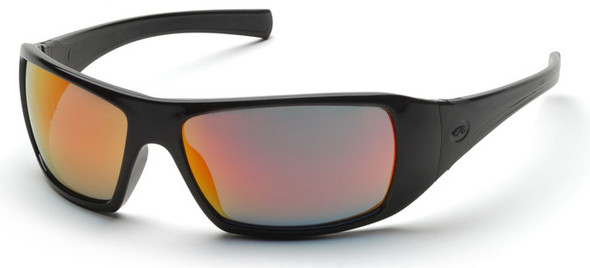Pyramex Goliath Safety Glasses with Black Frame and Ice Orange Mirror Lens SB5645D