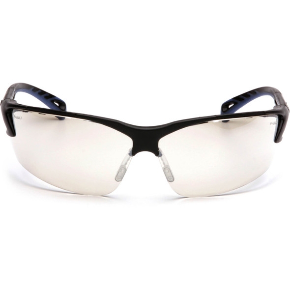 Pyramex Venture 3 Safety Glasses with Black Frame and Indoor/Outdoor Lens SB5780D Front View