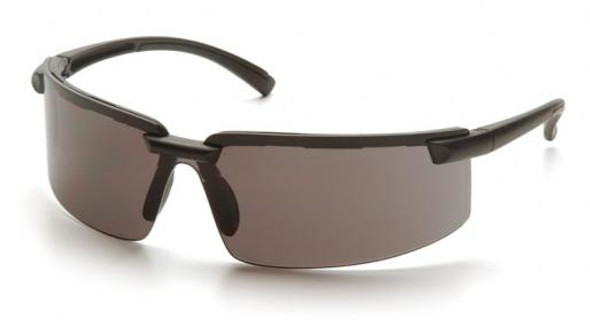 Pyramex Surveyor Safety Glasses with Black Frame and Gray Lens