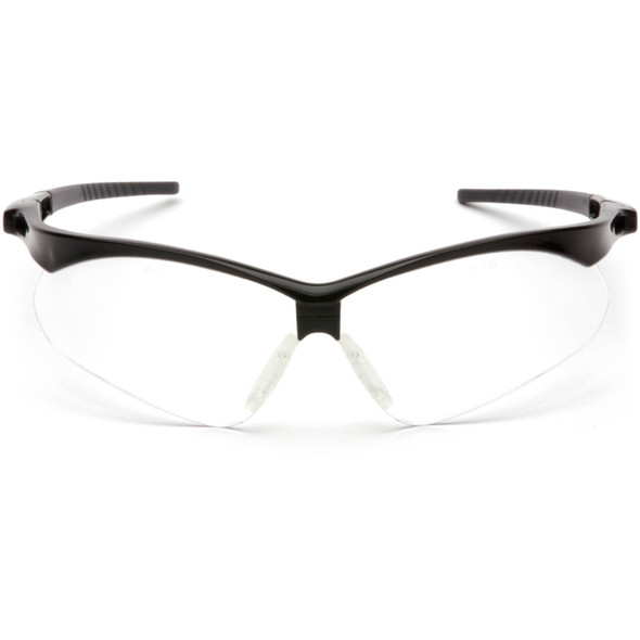 Pyramex PMXtreme Safety Glasses with Black Frame and Clear Lens Front View