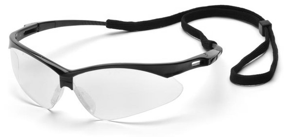 Pyramex PMXtreme Safety Glasses with Black Frame and Clear Anti-Fog Lens SB6310STP