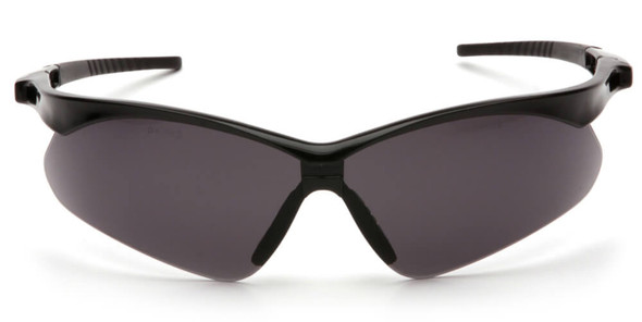 Pyramex PMXtreme Safety Glasses with Black Frame and Gray Anti-Fog Lens - Front