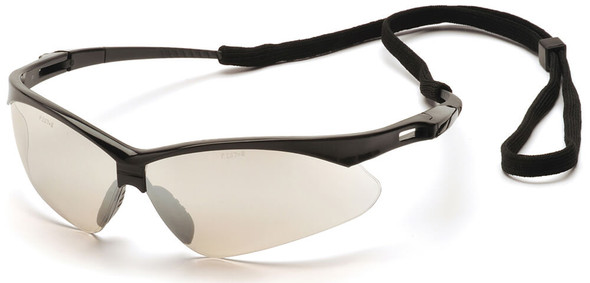 Pyramex PMXtreme Safety Glasses with Black Frame and Indoor/Outdoor Mirror Lens