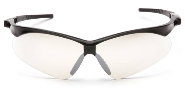 Pyramex PMXtreme Safety Glasses with Black Frame and Indoor/Outdoor Mirror Lens - Front