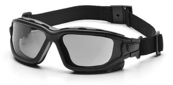 Pyramex I-Force Safety Goggle/Glasses with Black Frame and Gray Anti-Fog Lenses SB7020SDT