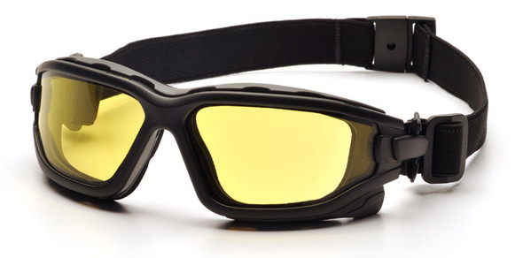 Pyramex I-Force Safety Goggle/Glasses with Black Frame and Amber Anti-Fog Lenses SB7030SDT