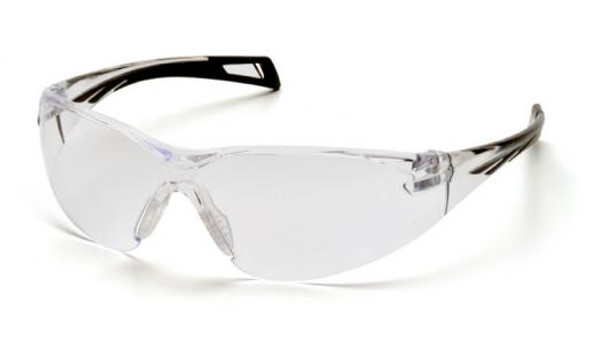 Pyramex PMXSlim Safety Glasses with Black Temples and Clear Lens