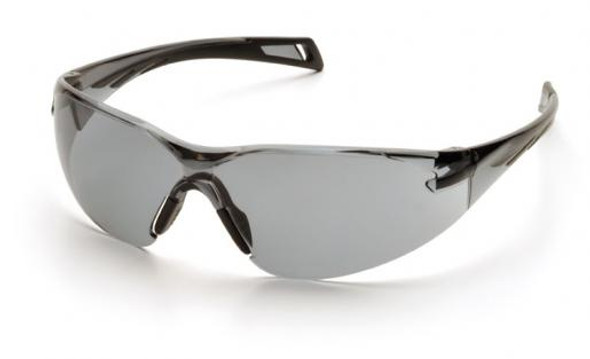 Pyramex PMXSlim Safety Glasses with Black Temples and Gray Anti-Fog Lens