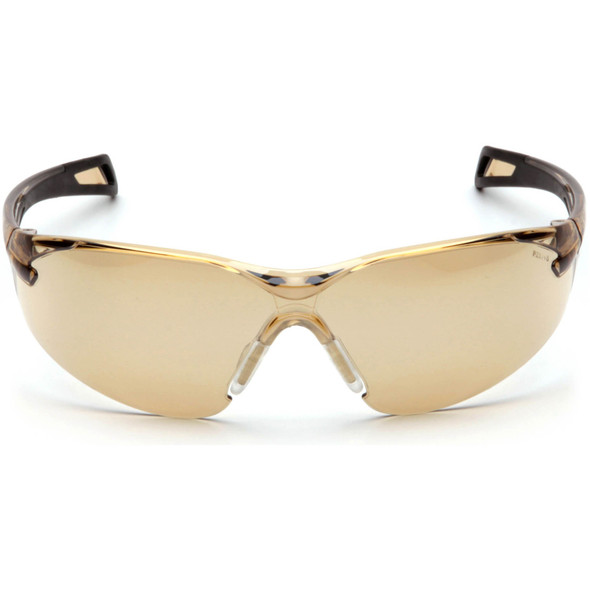 Pyramex PMXSlim SB7138S Safety Glasses with Black Temples and Bronze Lens Front View