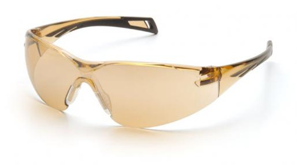 Pyramex PMXSlim Safety Glasses with Black Temples and Bronze Lens