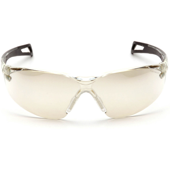 Pyramex PMXSlim SB7180S Safety Glasses with Black Temples and Indoor/Outdoor Lens Front View
