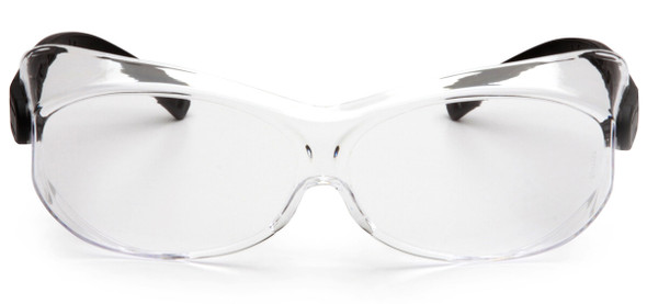 Pyramex OTS XL Over-Prescription Safety Glasses with Large Clear Anti-Fog Lens - Front View