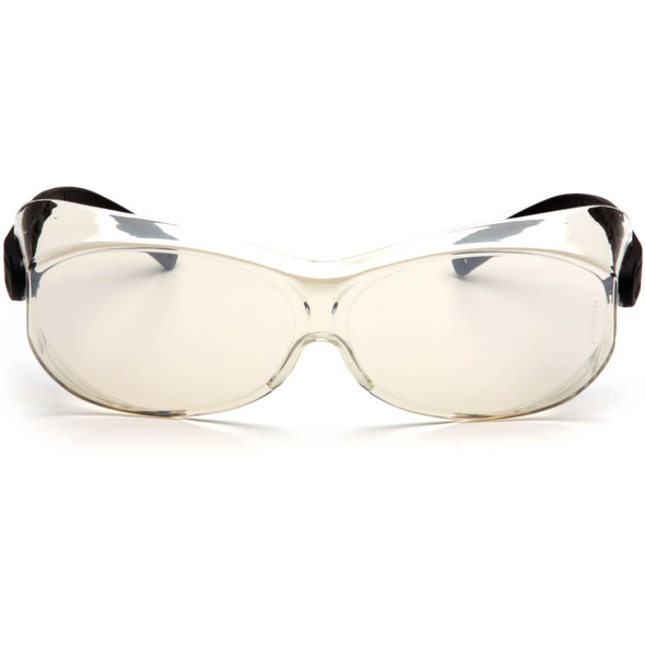 Pyramex OTS XL S7580SJ Over-Prescription Safety Glasses with Large Indoor/Outdoor Lens Front View