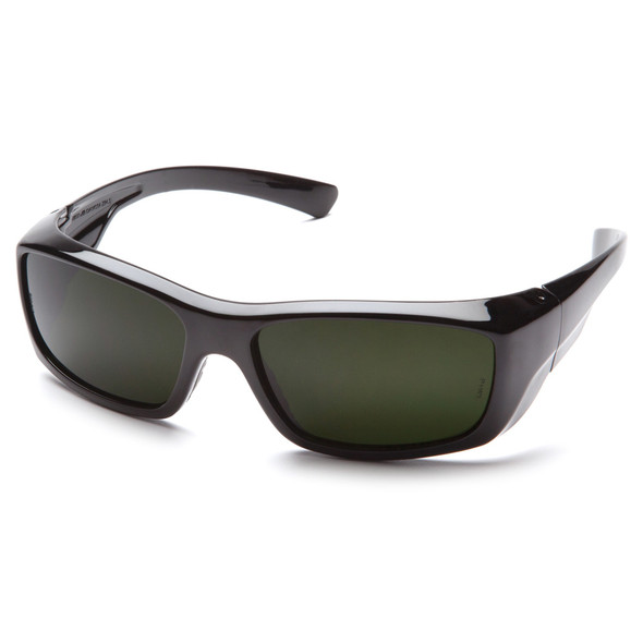 Pyramex Emerge Safety Glasses Black Frame IR Shade 5.0 Lens SB7950SF