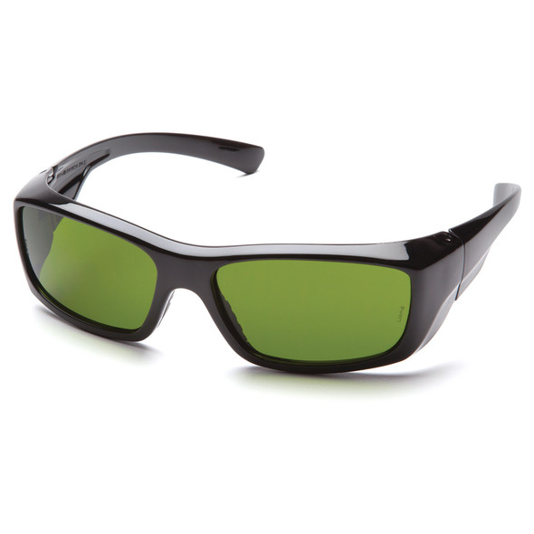Pyramex Emerge Safety Glasses Black Frame IR Shade 3.0 Lens SB7960SF