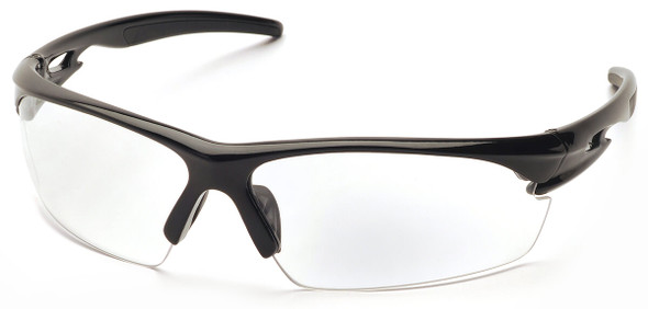 Pyramex Ionix Safety Glasses with Black Frame and Clear Anti-Fog Lenses SB8110DT