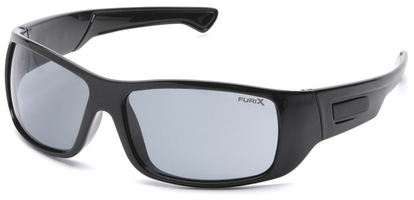 Pyramex Furix Safety Glasses with Black Frame and Gray Anti-Fog Lens SB8520DT