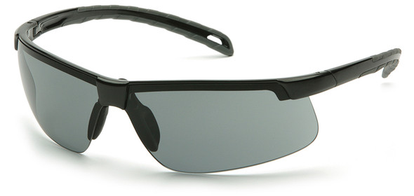 Pyramex Ever-Lite Safety Glasses with Black Frame and Gray Anti-Fog Lenses - SB8620DT