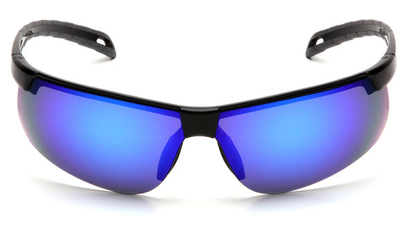 Pyramex Ever-Lite Safety Glasses with Black Frame and Ice Blue Mirror Lenses