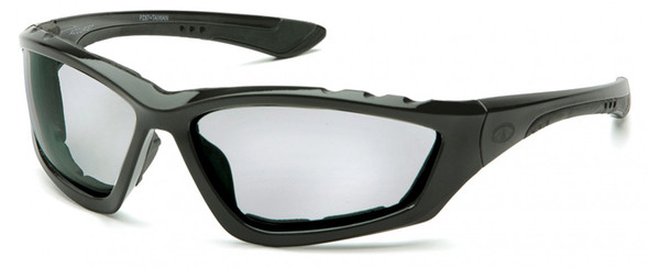Pyramex Accurist Safety Glasses with Black Frame and Light Gray Anti-Fog Lens SB8725DTP