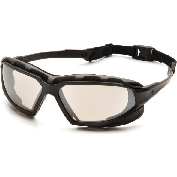 Pyramex Highlander Plus Safety Glasses Black Foam-Lined Frame Indoor/Outdoor Anti-Fog Lens SBG5080DT