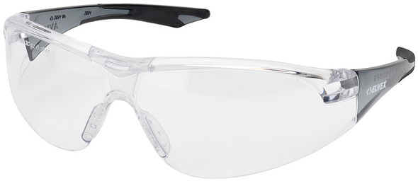 Elvex Avion Safety Glasses with Black Temples and Clear Lens