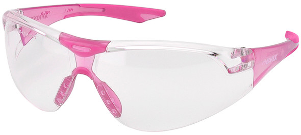 Elvex Avion SlimFit Safety Glasses with Pink Temples and Clear Lens SG-18C-SF-PNK